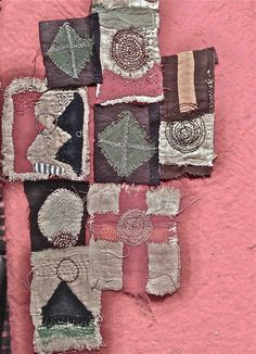 Junko_oki - /katiaoh/fiber-art-abstract/ BACK Textile Fiber Art, Textile Artists, Textiles, Wooly Bully, Art Du Fil, Embroidery Art, Fabric Art, Hand Stitching, Needlework