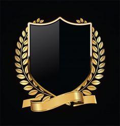 Luxury Logo Design, Custom Logo Design, Ideas Para Logos, Gold And Black Background, Image Avatar, Golden Logo, Wedding Logos, Art Logo, Vector Background