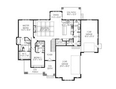 Main floor is perfect! Too much house with all the second floor has. Craftsman Style House Plan - 4 Beds 4 Baths 4826 Sq/Ft Plan #920-33 Floor Plan - Main Floor Plan - Houseplans.com
