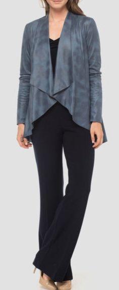 Joseph Ribkoff Faux Leather Coat Style 183473