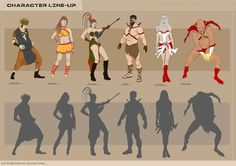 Character Line-Up by me. http://kirantecheyes.blogspot.in/2013/01/character-line-up-game-character-sample.html