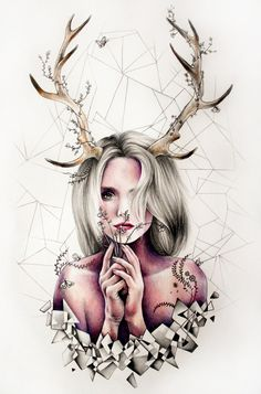 """Like art could save a wretch like me."" - Breath taking drawings by Kate Powell"
