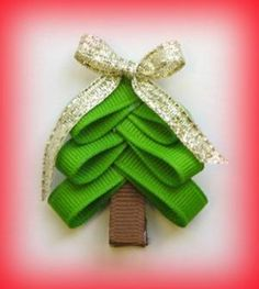How to Make Christmas Bows for presents and hair clips