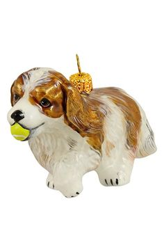 Joy to the World Collectibles 'Dog with Tennis Ball' Ornament available at #Nordstrom