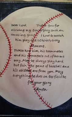Baseball prayer hand painted on canvas by carencreates on Etsy