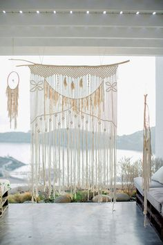 Macrame curtain / wa