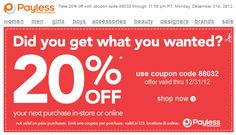 65 best couponsfreebiesdiscounts images on pinterest households 20 off at payless shoesource or online via checkout promo 88032 coupon via the fandeluxe Image collections