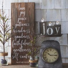 GALATIANS Barn Board Wall Sign | Antique Farmhouse