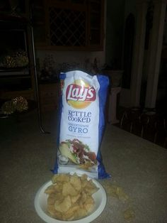 Vote for the new Lays  GREEKTOWN GYRO  www.DoUsAFlavor.com Greek Fast Food, Greek Gyros, Snack Recipes, Snacks, Chips, Cooking, Snack Mix Recipes, Kitchen, Appetizer Recipes
