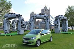 Check out this sculpture made from scrap cars in the form of #Stonehenge to launch the #Skoda #Citigo