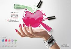 1its selling nail polishavon 2no tagline 3different colors avon ideasadvertising
