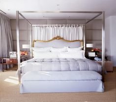 Vicente Wolf warm gray bedroom