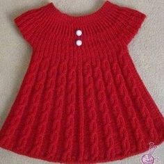 Girls Knitted Dress Knitted Baby Clothes Knit Baby Dress Baby Knitting Patterns Knitting For Kids Crochet For Kids Baby Vest Baby Cardigan Baby Kind Lots of inspiration. Girls Knitted Dress, Knit Baby Dress, Knitted Baby Clothes, Baby Knitting Patterns, Diy Crochet Sweater, Crochet Baby, Baby Christening Dress, Baby Baptism, Baptism Dress