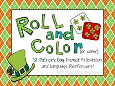 Free Roll and Color St. Patrick's Day Articulation and Language Freebies