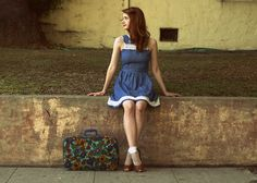 Away We Go (by Jane Bennet)  Dress is from ModCloth -  Fishnet Socks are from American Apparel -
