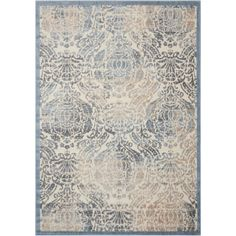 Graphic Illusions Sky (Blue) 7 ft. 9 in. x 10 ft. 10 in. Area Rug