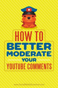 How to Better Moderate Your Comments by Ana Gotter on Social Media Examiner. Marketing Mail, Marketing Software, Facebook Marketing, Marketing Tools, Social Media Marketing, Inbound Marketing, Marketing Ideas, Content Marketing, Digital Marketing