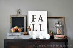 Rustic Fall Vignette by @Taryn {Design, Dining + Diapers}