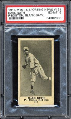 Babe Ruth Rookie Card - Sporting News