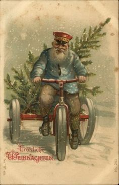 Vintage Transport - Transportation - Vintages Cards - Christmas Wallpapers, Free ClipArt for Xmas, Icon's, Web Element, Victorian Christmas Photos and Vintage Santa Claus pictures Vintage Christmas Images, Victorian Christmas, Vintage Holiday, Christmas Pictures, Vintage Images, German Christmas, Noel Christmas, Christmas Greetings, Christmas Postcards