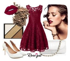 """Rosegal contest-Sheer Lace Plus Size Vintage Dress"" by merimaa997 ❤ liked on Polyvore featuring Elizabeth Arden, Dolce&Gabbana, Lime Crime and vintage"