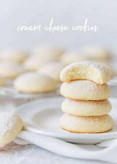 cream cheese recipes Cream cheese is the secret ingredient to the world's chewiest, fluffiest, most delicious cookies. You'll love these cream cheese cookies! Easy Cookie Recipes, Cookie Desserts, Sweet Recipes, Yummy Recipes, Keto Cookies, Yummy Cookies, Cookies Soft, Chip Cookies, Cream Cheese Cookie Recipe