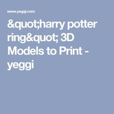 """harry potter ring"" 3D Models to Print - yeggi"