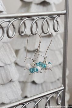 Frozen Inspired Dangle Cluster Earring by @bombshellbling | DIY Frozen Earrings
