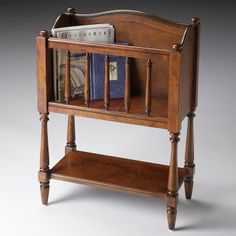 Magazine Stands For Home Butler Plantation Cherry Stand Wood