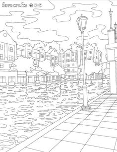Indianapolis Canal Walk Coloring Page