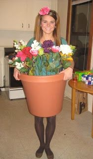 *Seek to be Merry* - 31 days of Halloween! - ladies costume inspiration, a pot of flowers