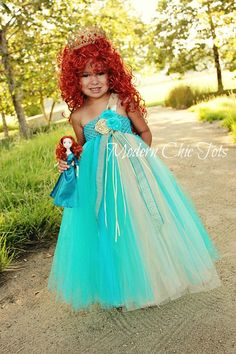Merida/Brave Themed Tutu Dress Halloween Costume. Kelsey says this is she wants to be.
