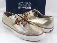 Sperry Top Sider SEACOAST Fashion Sneakers Metallic Python Bronze Size 9.5 #SperryTopSider #Fashionsneakers