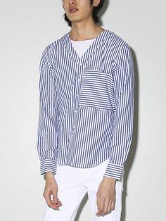 varsity shirt navy stripe