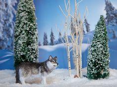 Dollhouse Miniature OOAK Artist Made Wolf