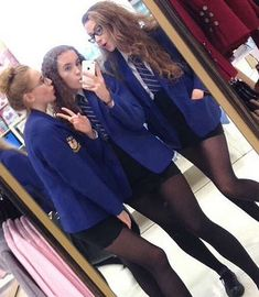 Tight Skirts Page: Uniform Tight Skirts 13 British School Uniform, School Uniform Fashion, School Uniform Girls, School Outfits, Cute School Uniforms, Girls Uniforms, Catholic School Uniforms, Outfits For Teens, Girl Outfits