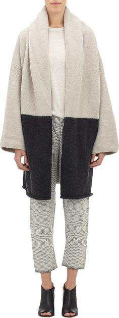 Lauren Manoogian Colorblock Oversize Sweater Coat