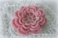 free crochet rose afghan patterns