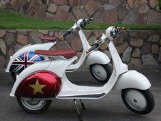 Coming soon: Buzz 1 vintage-style electric scooter - Modculture Vespa Vbb, Piaggio Vespa, Lambretta Scooter, Vespa Scooters, Scooter Bike, Electric Scooter, Vintage Fashion, Vintage Style, Geek Stuff