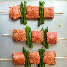 Salmon and Asparagus Kebabs Recipe - Chowhound
