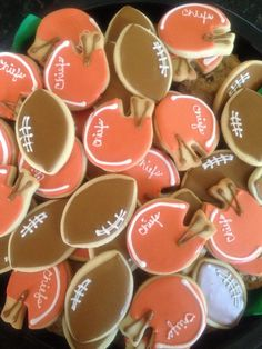 Football Party Cookies/ Super Bowl/ High school Football Championship