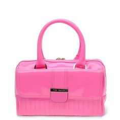 Ted Baker Marquez Quilted Enamel Bowler Bag In Pink  - Excel Clothing