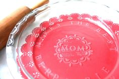 *Rook No. 17: recipes, crafts & whimsies for spreading joy*: Mothers Day Gift DIY: Make an Etched Glass Pie Plate with Martha Stewart Crafts #marthastewartcrafts #mothersday
