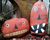 Extreme Primitive Punk & Jack Fall Pumpkin Shelf Sitters-Halloween-Made to Order-Hafair Team, FAAP