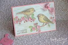 Kreativ-Stanz Frühling Vogelhochzeit Stempelset und Thinlits Blumen und Vögel von Stampin' Up! Hochzeit Geburtstag #stampinup #spring http://kreativstanz.bastelblogs.de/