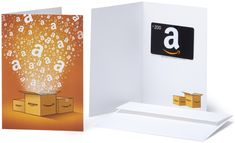 Amazon.com $200 Gift Card in a Greeting Card (Amazon Surprise Box Design)