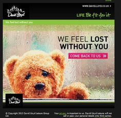 David Lloyd- 'Lost without you' re-engagement email. #emailmarketing #davidlloyd…