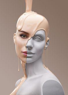 """""""INTELLIGENT BEAUTY"""", creative by Irina Erkan, pinned by Ton van der Veer"""