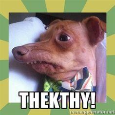 "THEKTHY! | Tuna, the ""Thquirrel"" dog"