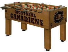 [[start tab]] Description This officially licensed Ohio State University Buckeyes Foosball Table features a wood cabinet with CNC and laser cut logos and is custom finished. The play field is regulati University Of Montana, Boise State Broncos, Colorado State University, Kansas State Wildcats, Arkansas Razorbacks, Ohio State Buckeyes, Michigan Wolverines, Kansas Jayhawks, Texas Longhorns